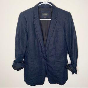 J. Crew Navy Blue 100% Linen Blazer 4